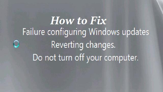How to Fix Windows 8 Stuck on Failure Configuring Windows Updates