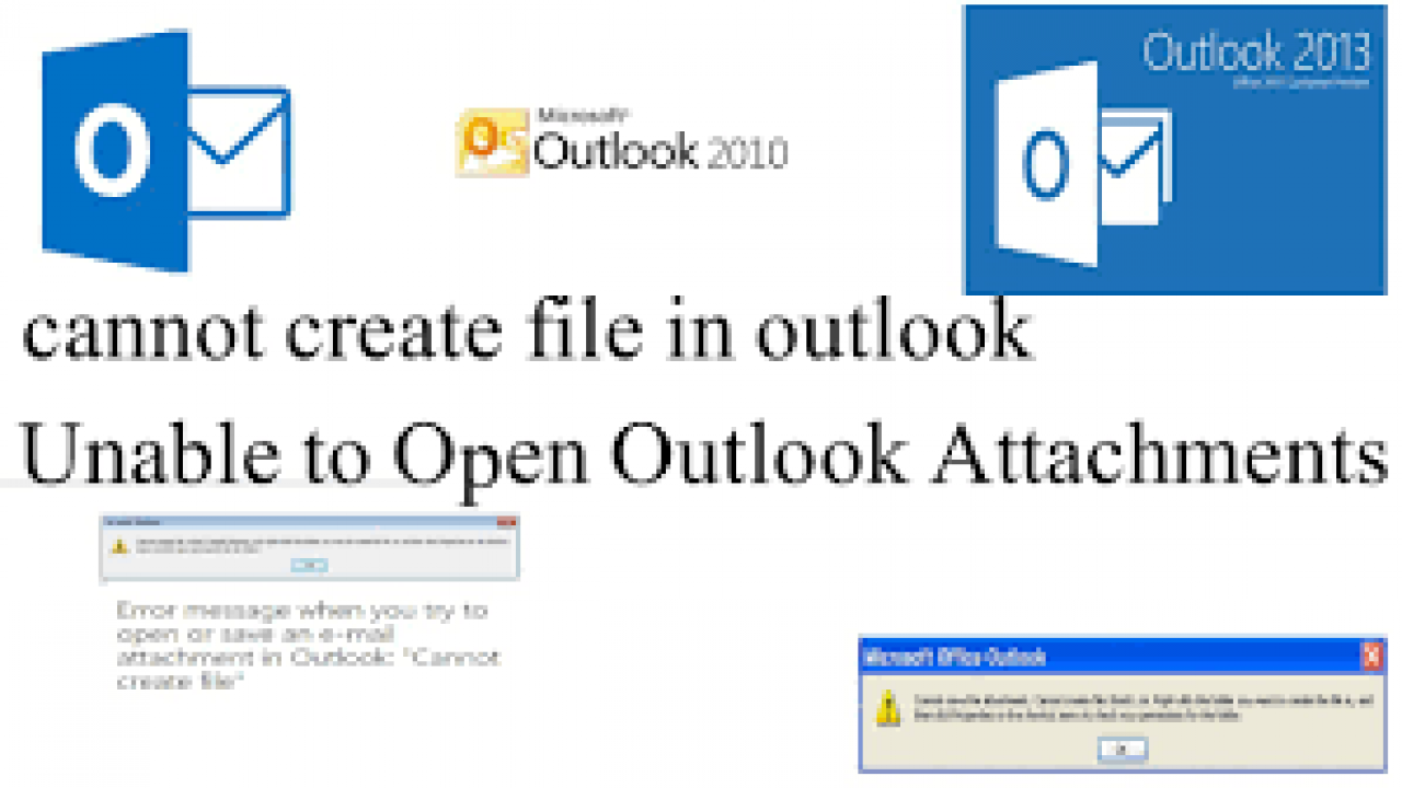 Solved - Outlook 2016 Error Opening Word or Excel Attachment