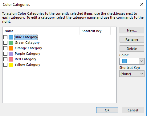 Create Color Category