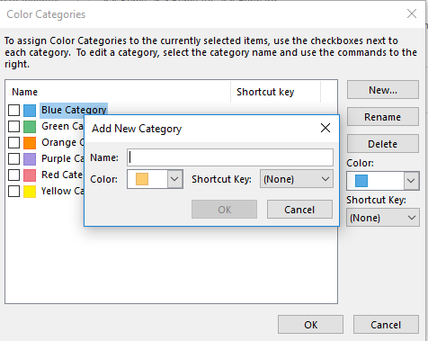 Add New Color Category