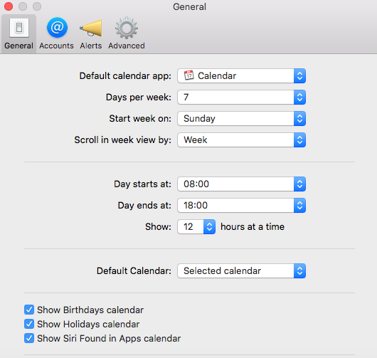 general tab calendar