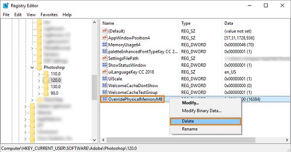 delete dword key