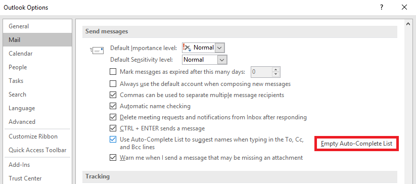 empty autocomplete