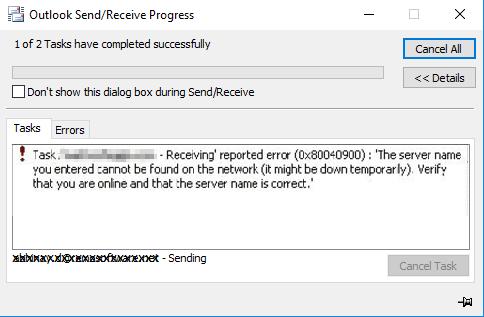 error 0x80040900