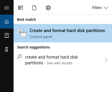 create and format partition