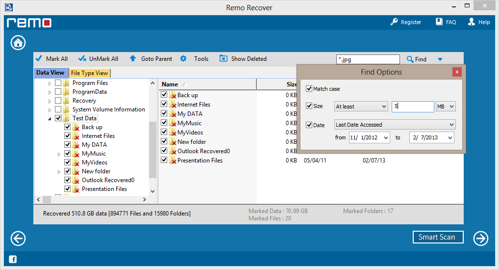 Find recovered files from damaged partition