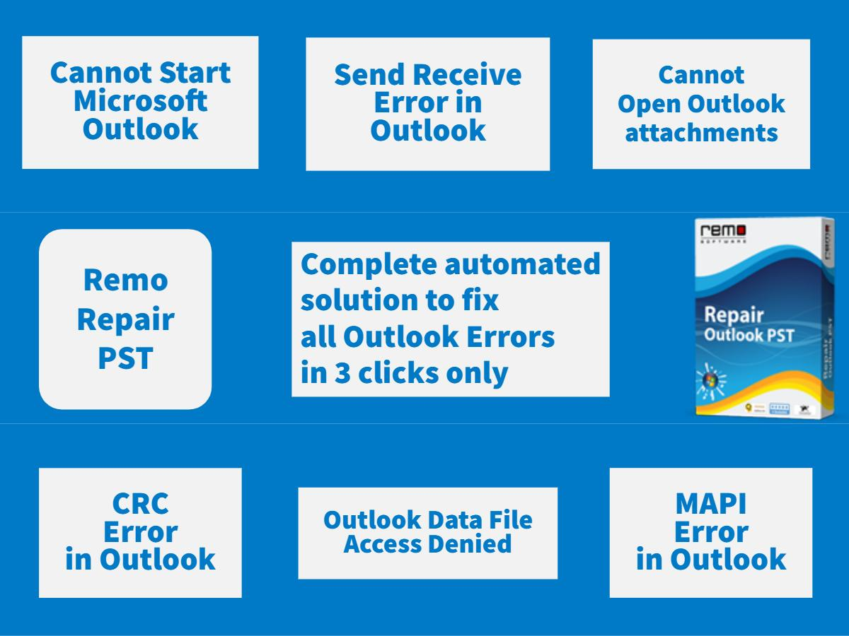 How to Fix Common Outlook Errors | Useful Insights - Info | Remo
