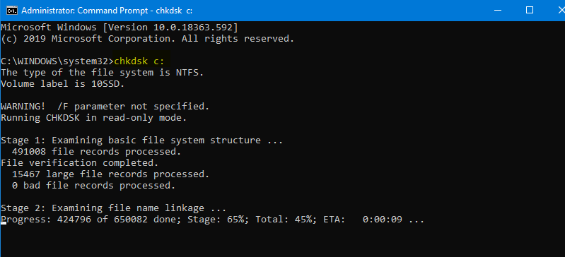 Fix Format Disk Error using CMD