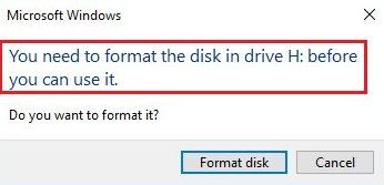 How to Fix Format Disk Error?