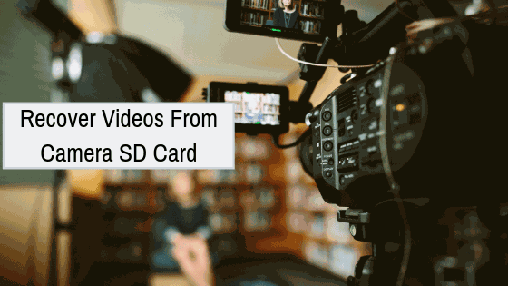 how to recover deleted lost formatted videos from camera SD card