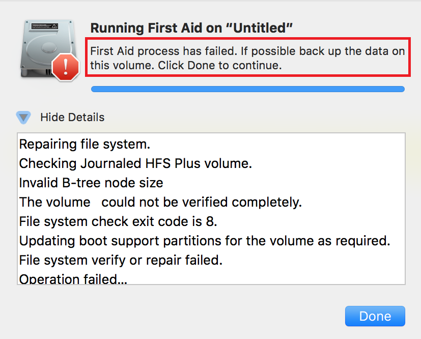repair APFS disk with Disk Utility