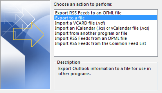 choose export to file