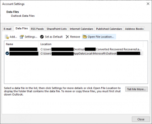 How to Change Location of Outlook Data File