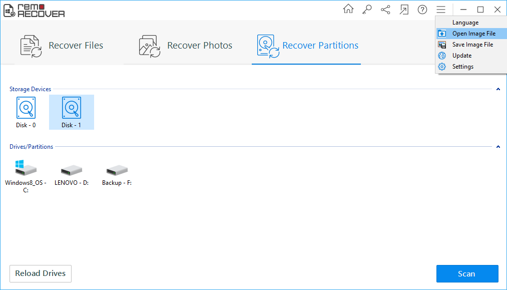 recover deleted files from Windows 10 using Remo Recover