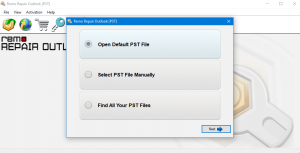 Fix Outlook PST cannot be opened using Remo Repair PST tool