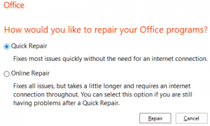update Outlook to fix outlook stuck on processing