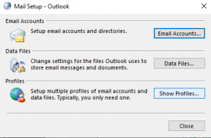outlook stuck on processing